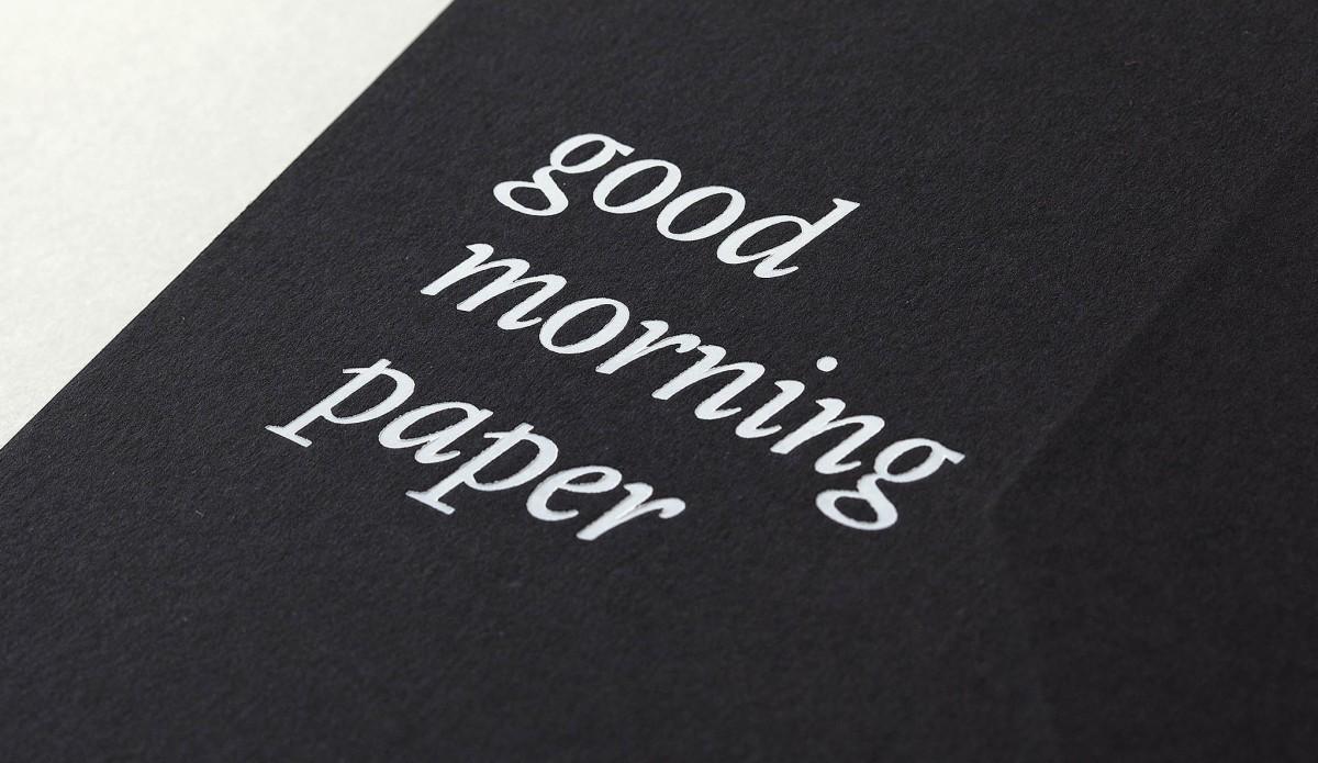 Good morning paper