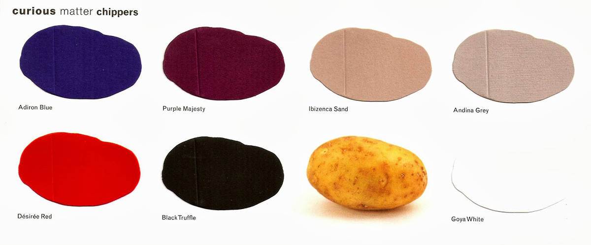 Los colores disponibles de la colección.