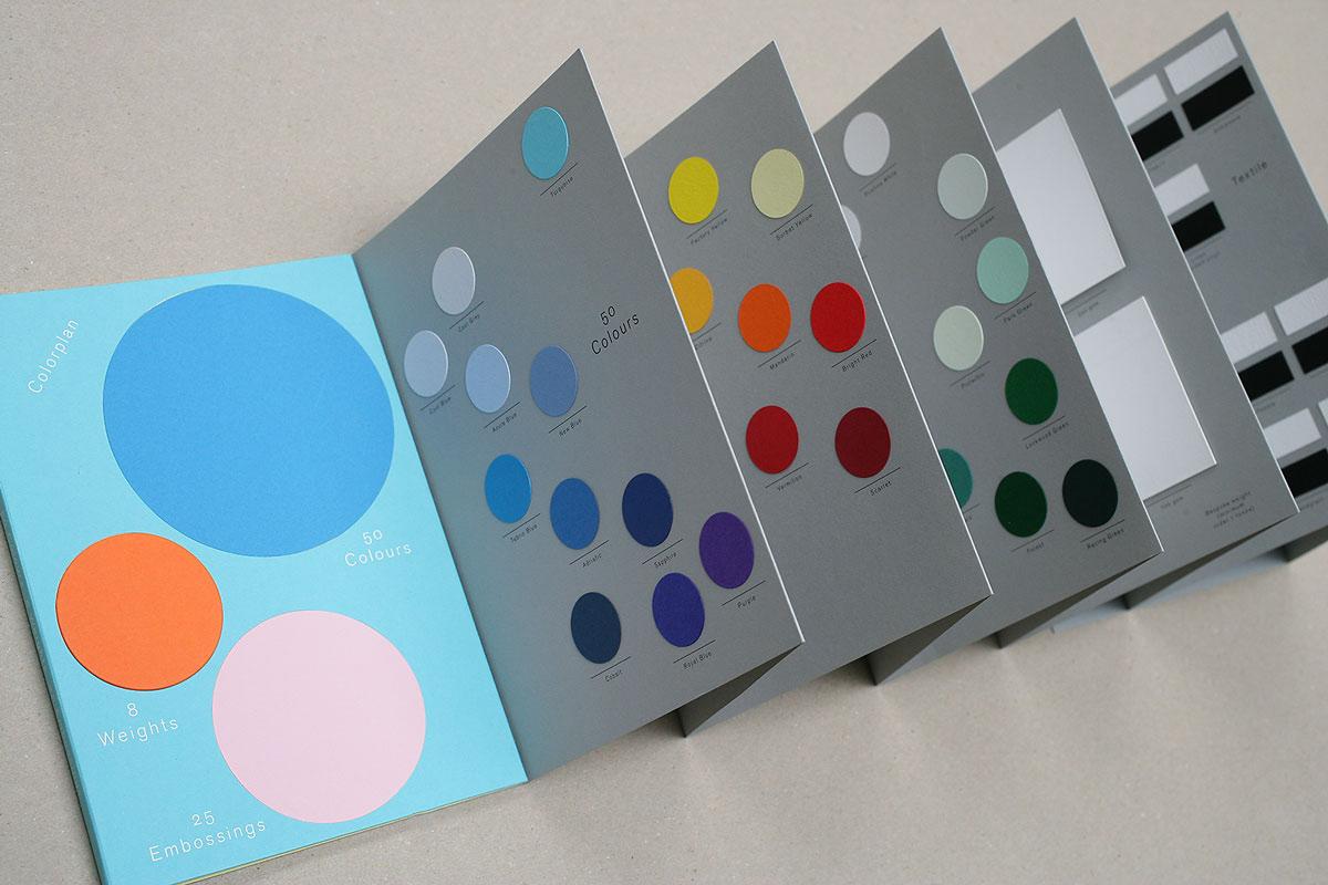 Muestrario de la gama Colorplan (Gf Smith).