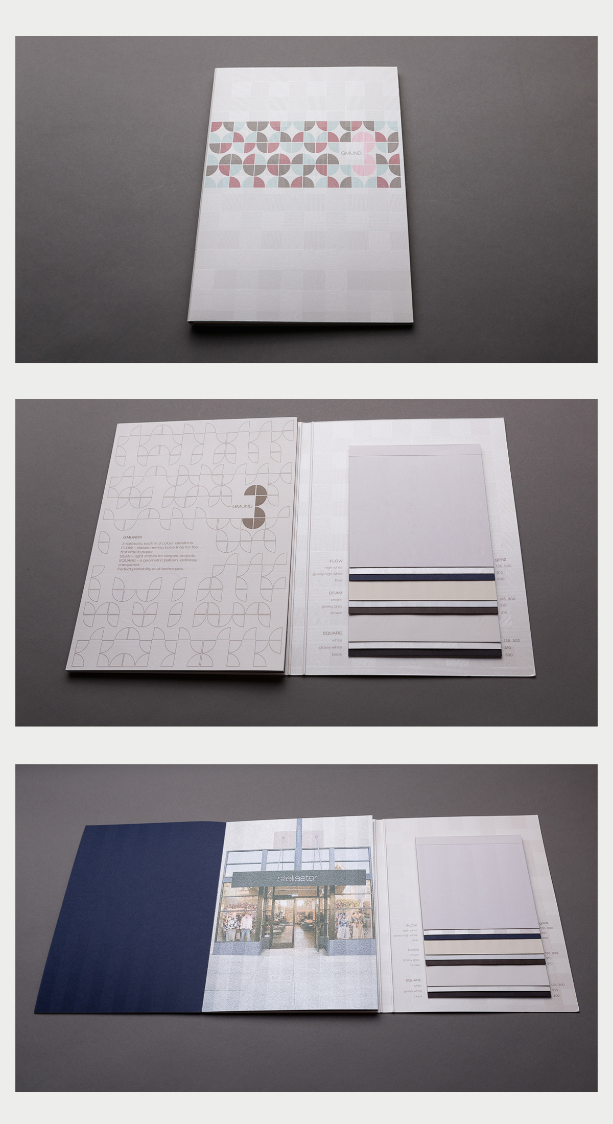 Swatch book of Gmund 3.