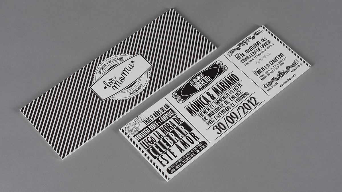 Invitación de boda impresa en papel algodonoso Conqueror Connoisseur.