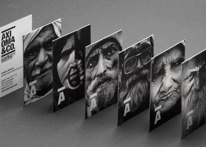 Modelos con rostros de las tarjetas de visita con impresión offset para Axioma