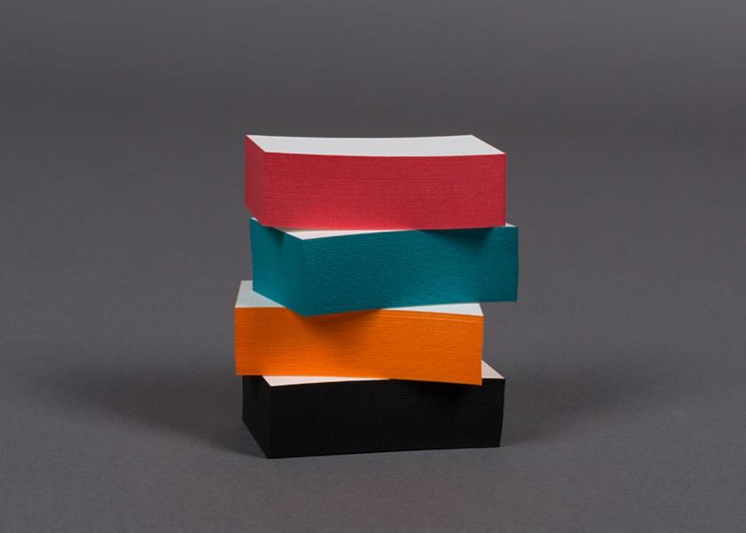 Tacos de tarjetas con cantos coloreados Minke