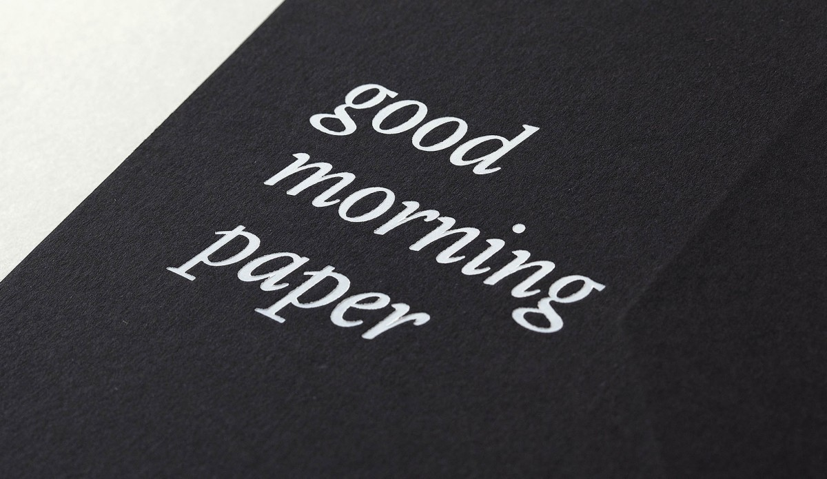Good morning paper - Minke