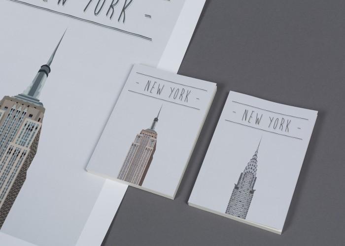 Agenda y póster New York