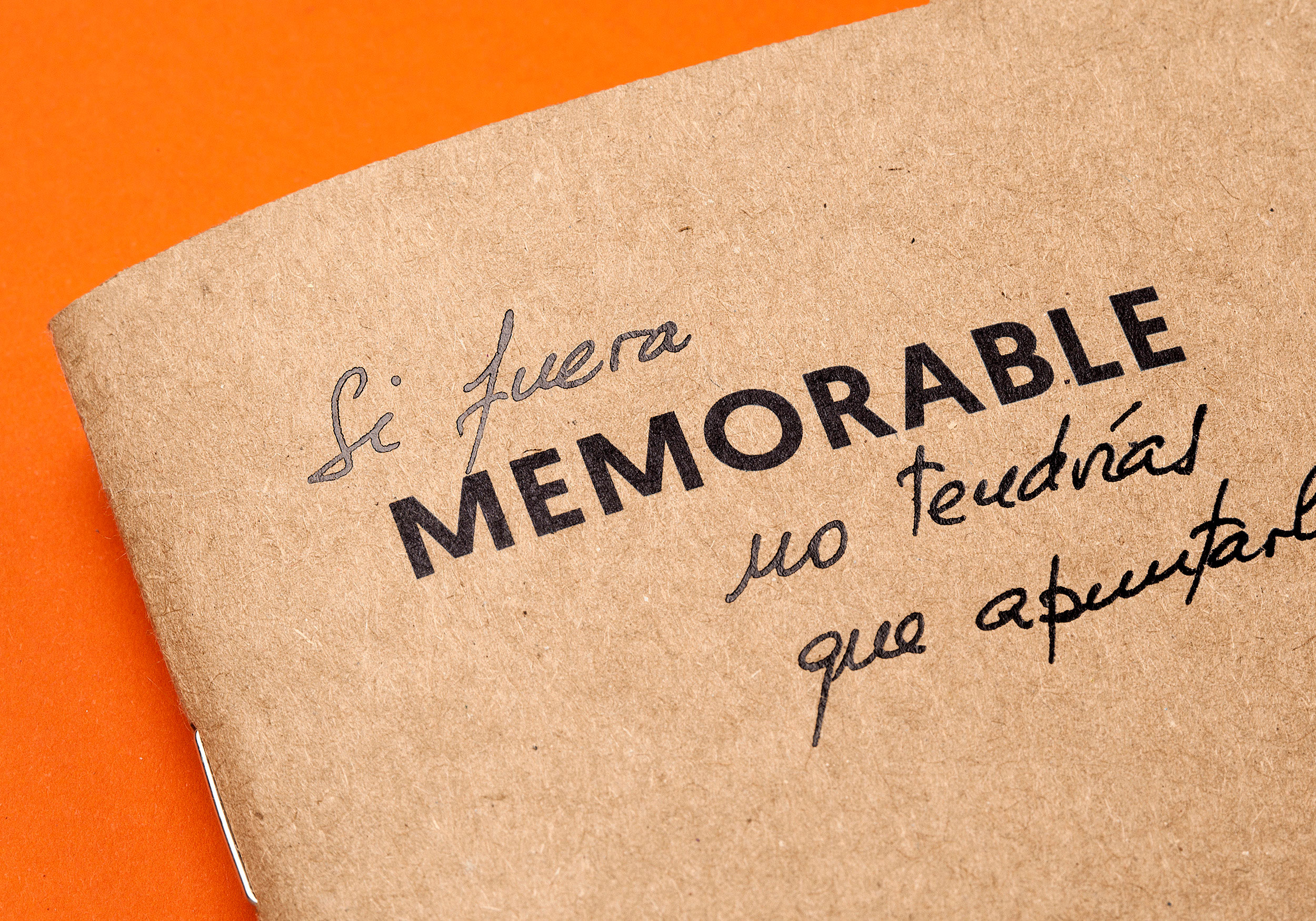 Cover Memorable with stamping Raw Notebooks