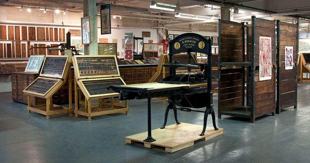 Exposición en el Hamilton Museum - Letterpress