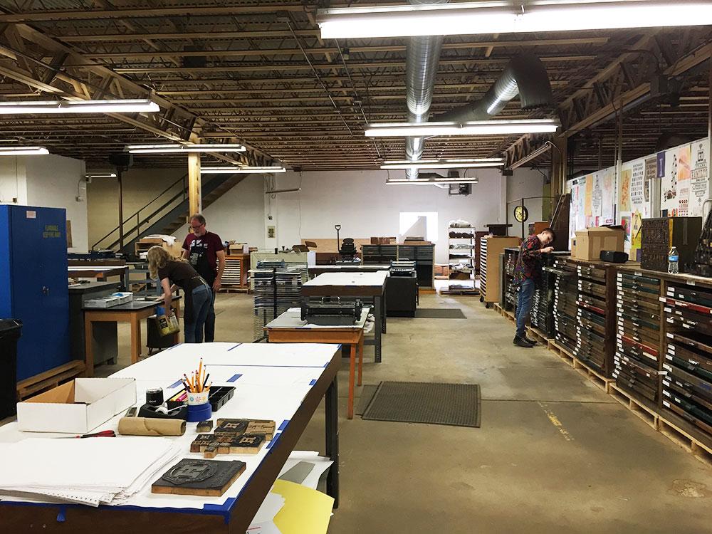 Taller Hamilton Wood Type Museum