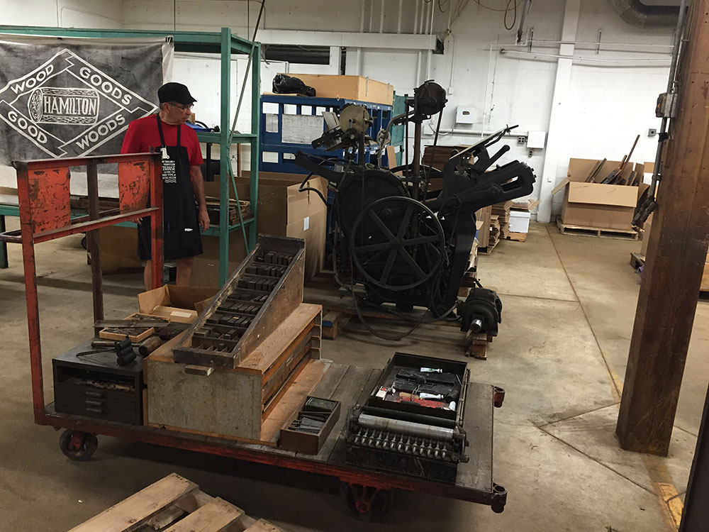 Impresión letterpress en el Hamilton Museum - Letterpress