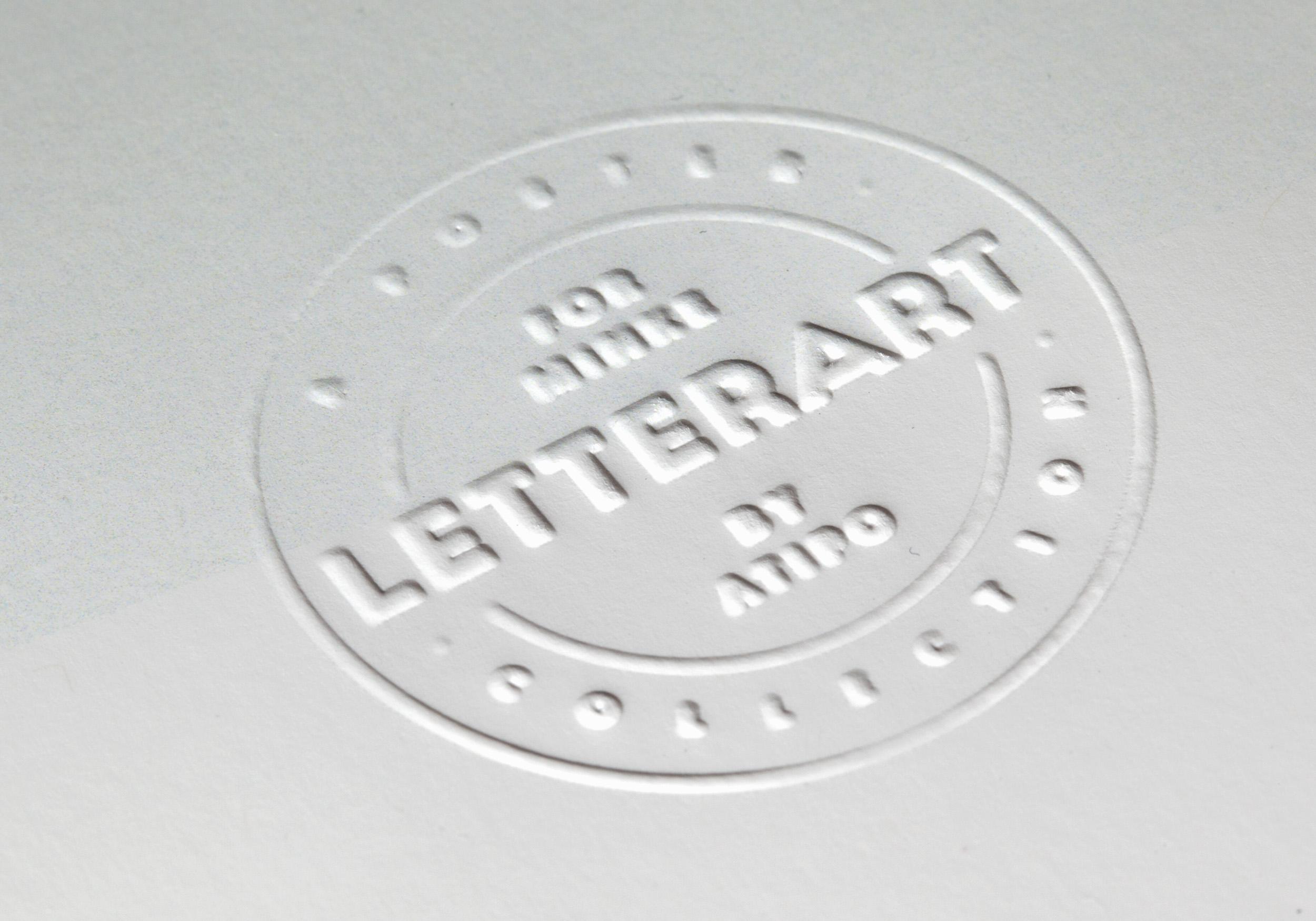 Sello LetterArt en golpe en seco