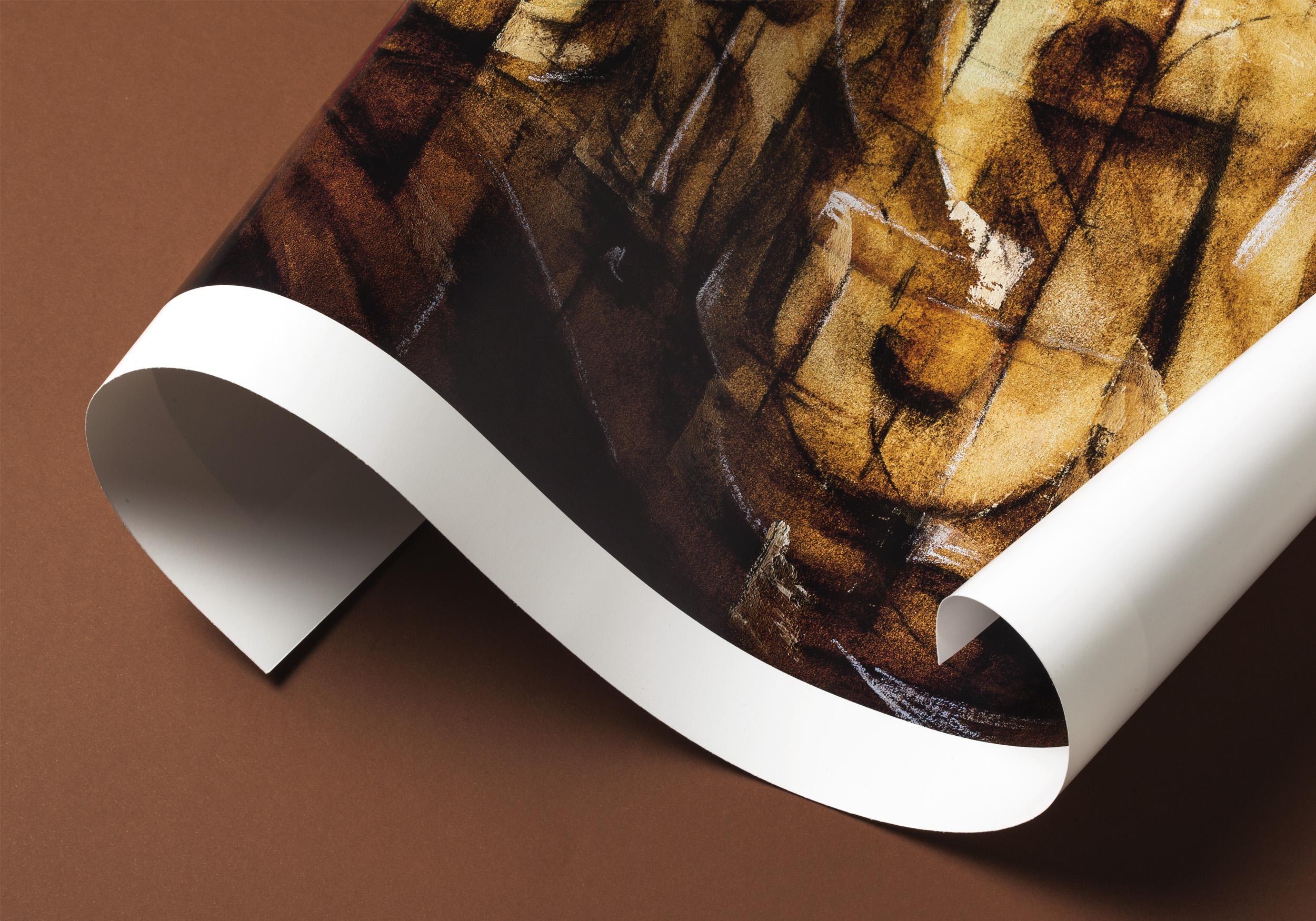 Detalle del póster Futurism de LetterArt