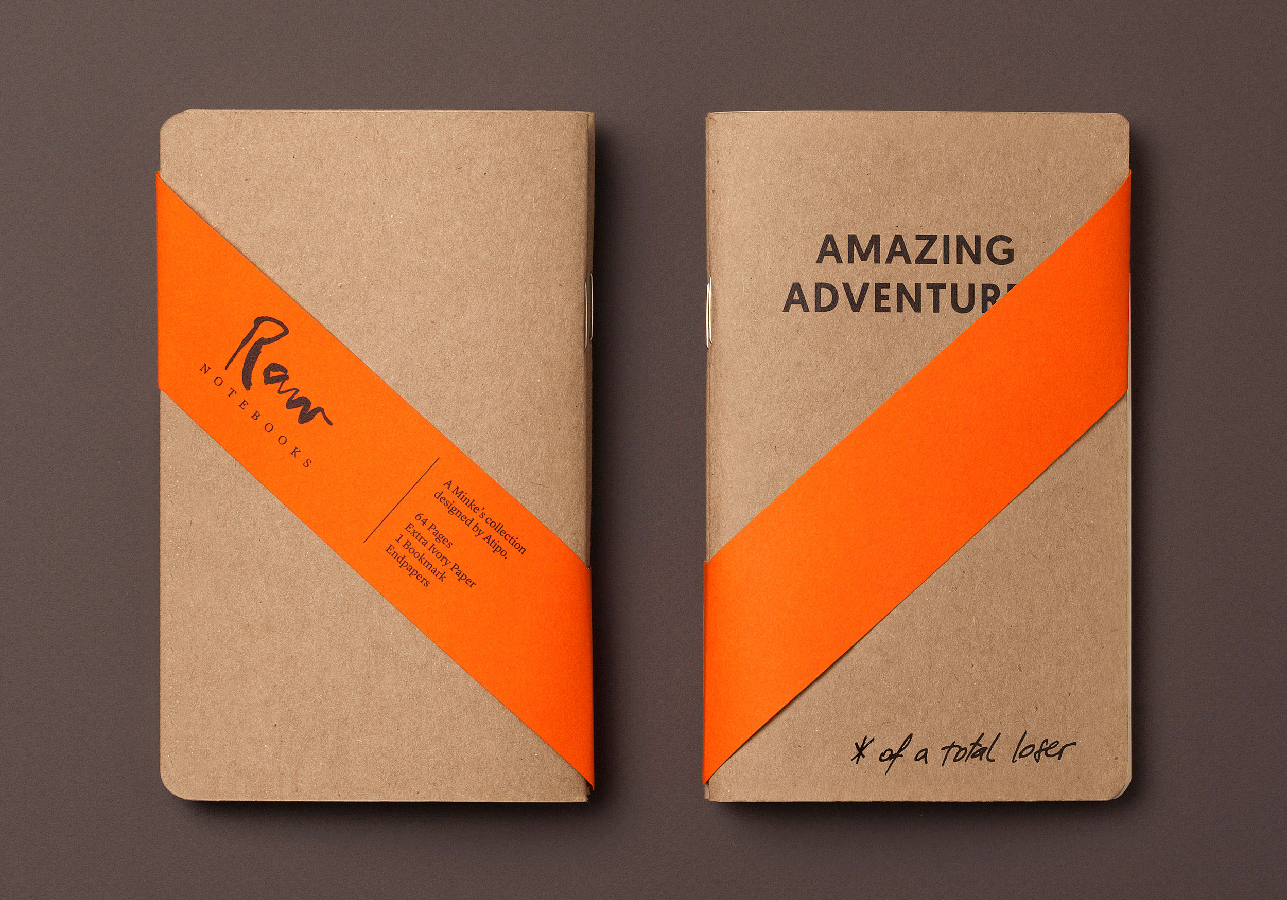 Amazing adventures Raw Notebooks with band