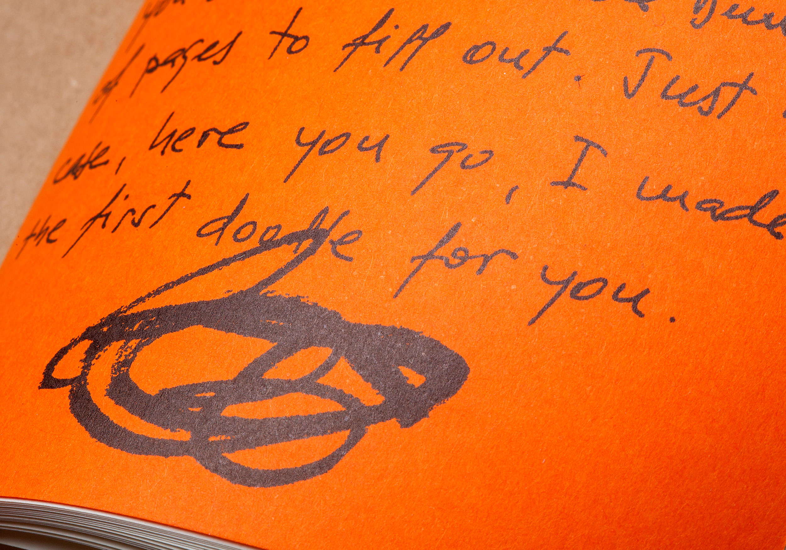 Detail interior text Raw Notebook