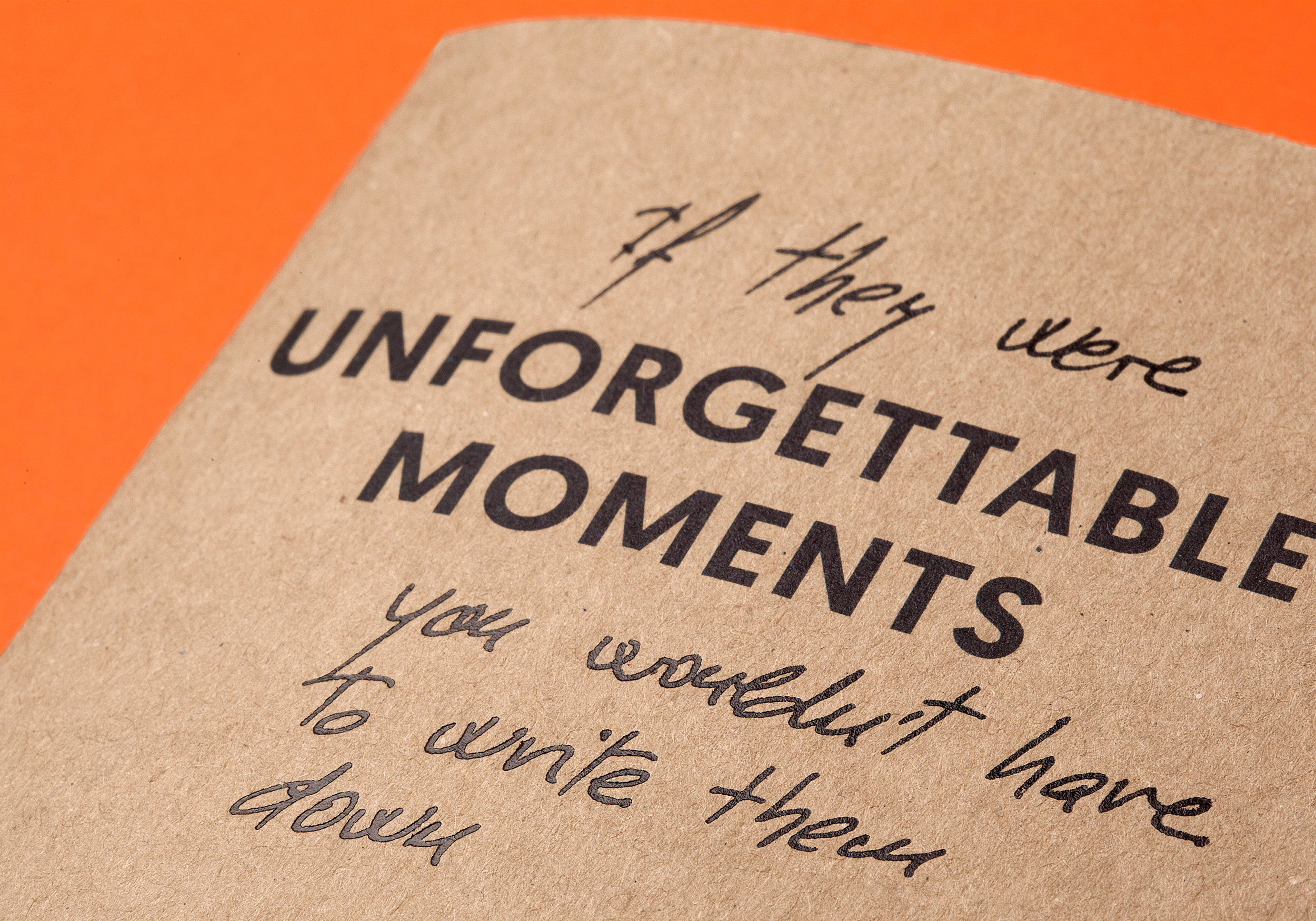 Detail Unforgettable moments with stamping Raw Notebook