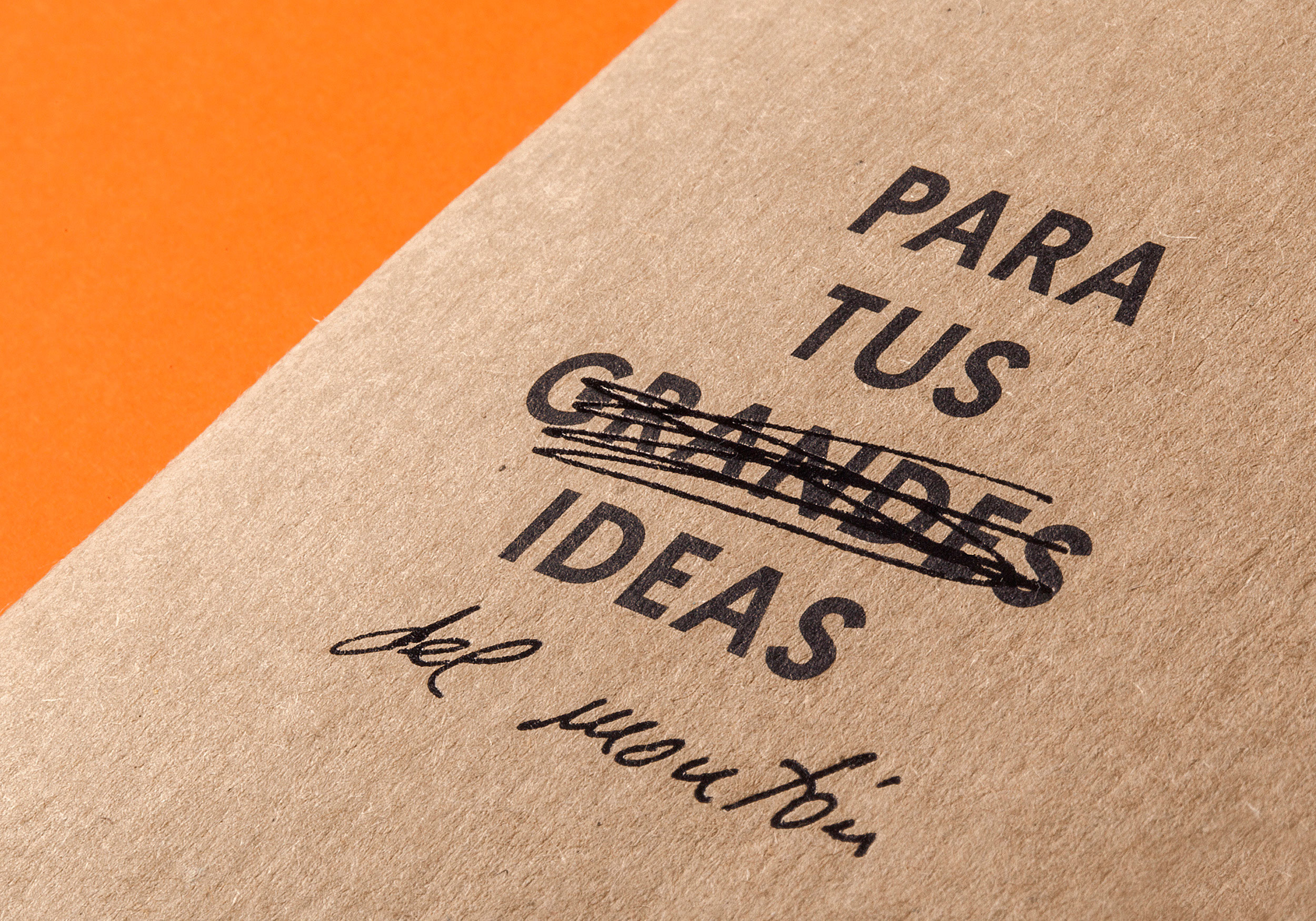 Detail cover Para tus grandes Ideas Raw Notebooks
