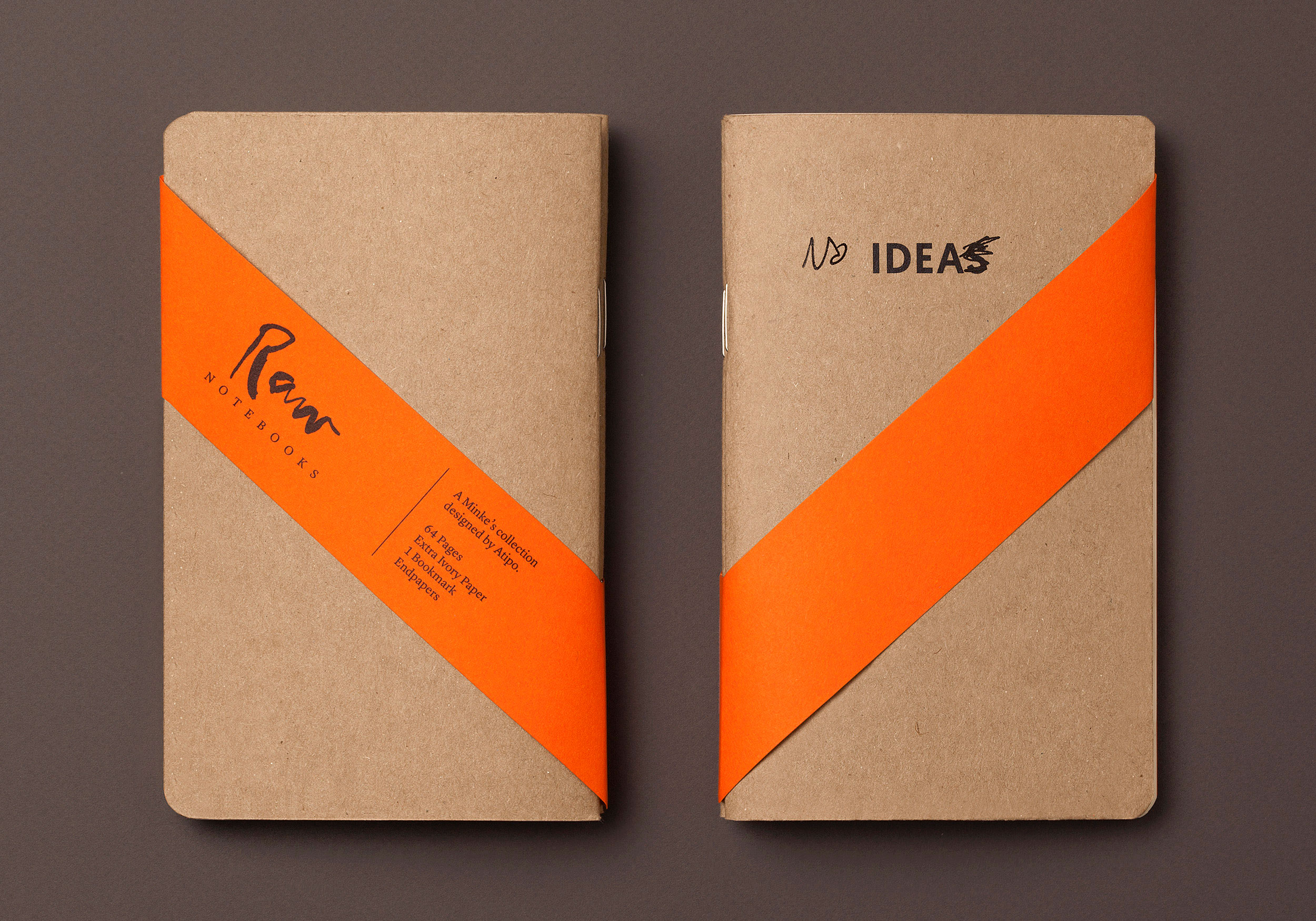 Ideas Raw Notebooks with band