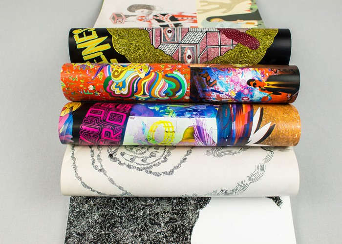 Image of rolled printed sheets of coated paper