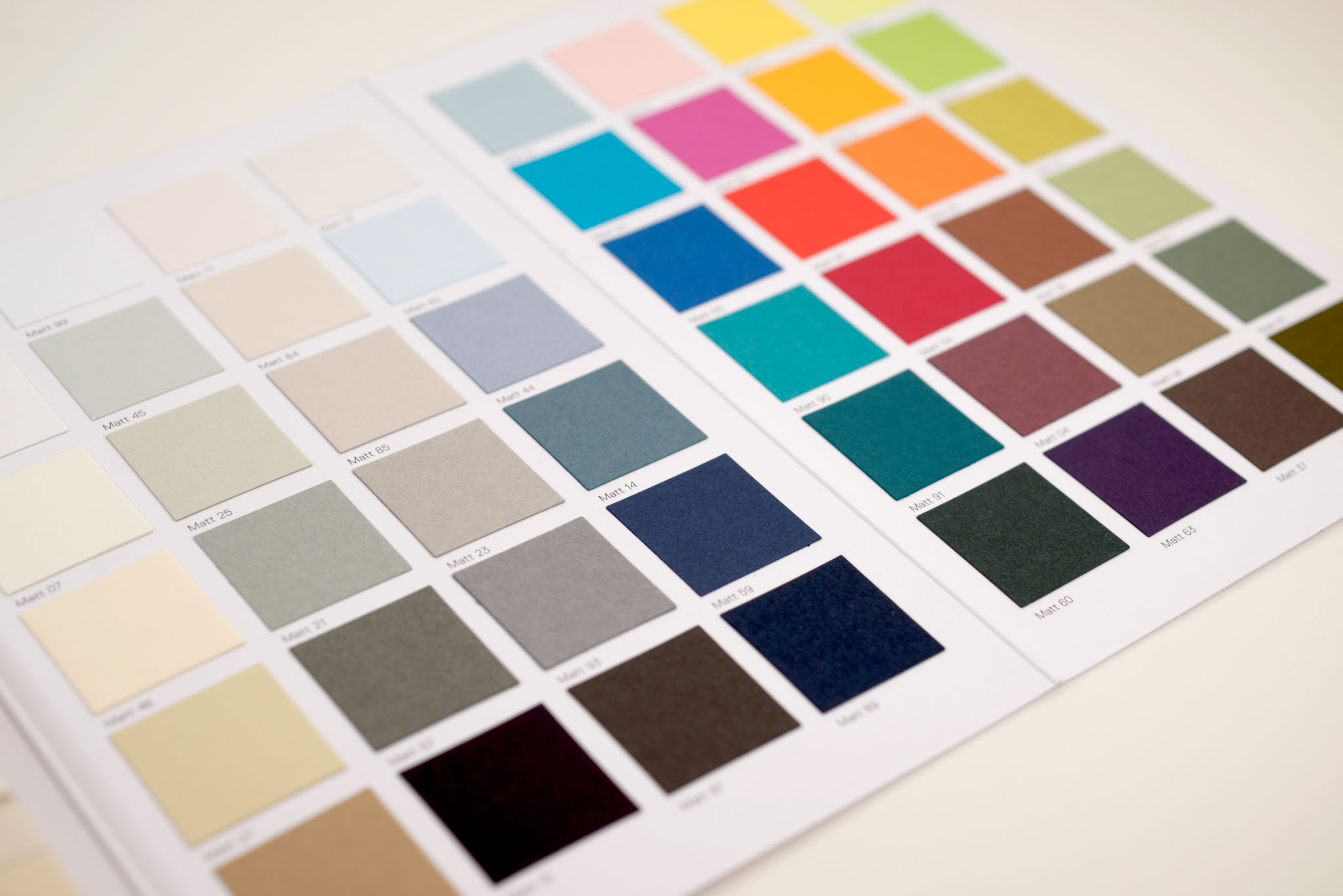 Gmund Matt paleta de colores