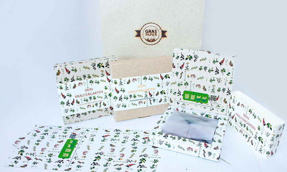 Graspapier stationery set